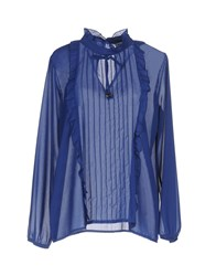 Miss Miss By Valentina Blouses Blue