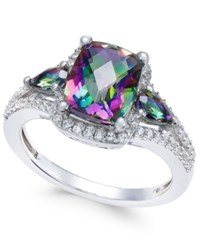 Macy's Mystic Topaz 2 1 6 Ct. T.W. And White Topaz 1 4 Ct. T.W. Ring In Sterling Silver Multi
