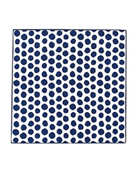 Thomas Pink Hand Painted Spot Pocket Square Navy White