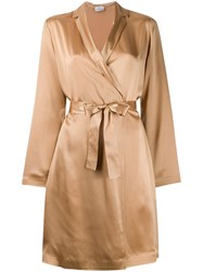 La Perla Short Robe Neutrals