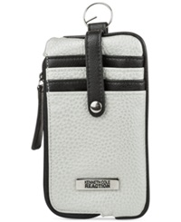 Kenneth Cole Reaction Tab Key Ring Pouch Wallet Pale Wheat Black