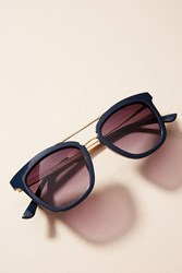 Anthropologie Tasma Brow Bar Sunglasses Blue Motif