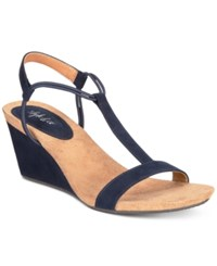 Styleandco. Style Co Mulan Wedge Sandals Created For Macy's Navy
