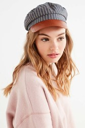 Urban Outfitters Striped Chambray Fisherman Hat Blue
