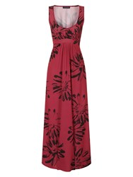 Hotsquash Empire Line Jersey Maxi Dress Red