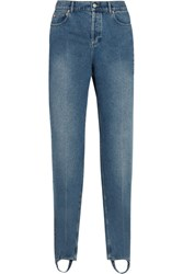 Balenciaga High Rise Straight Leg Jeans Mid Denim