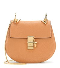 Chloe Drew Small Leather Shoulder Bag Brown