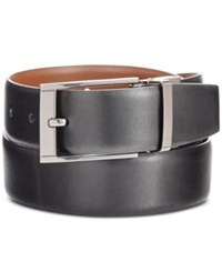 Perry Ellis Men's Big And Tall Reversible Leather Belt Black