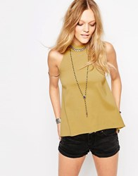 Glamorous Sleeveless Top Mustard Yellow
