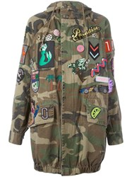 Marc Jacobs Embellished Hooded Anorak Green