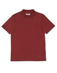 Ben Sherman Patterned Polo Cranberry