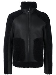 Carven Reversible Shearling Jacket Blue