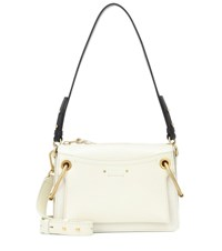 Chloe Small Roy Leather Shoulder Bag White
