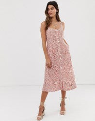 Capulet Sunny Midi Dress With Button Front Red