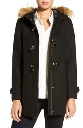 Cole Haan Signature Women's Hooded Duffle Coat With Faux Fur Trim