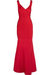 Herve Leger Bandage Gown Red
