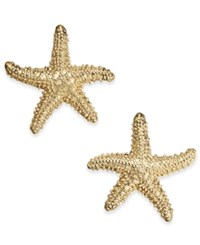 Charter Club Gold Tone Starfish Stud Earrings Only At Macy's
