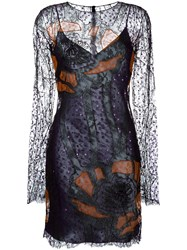 Nina Ricci Sequin Embroidered Lace Dress