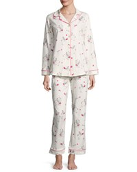 Bedhead Fifi Long Sleeve Printed Classic Pajama Set White Pattern