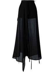 Ann Demeulemeester Sheer Wide Leg Trousers Black