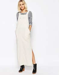 Paisie Dungaree Maxi Dress Beige