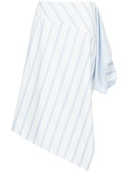 Nehera Flared Striped Skirt White
