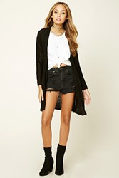 Forever 21 Marled Knit Open Front Cardigan
