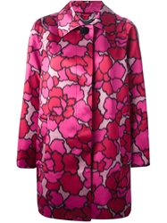 Marc Jacobs 'Petal Chine' Coat Pink And Purple