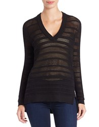 Michael Michael Kors Knit V Neck Sweater Black