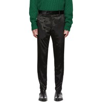 Paul Smith Black Crushed Velvet Trousers