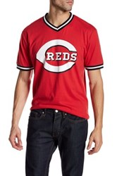 Wright And Ditson V Neck Eephus Cardinals Tee Red
