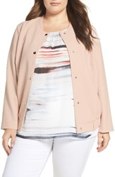 Vince Camuto Plus Size Women's Snap Front Bomber Jacket