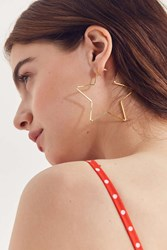 Urban Outfitters 18K Gold Plated Geometric Hoop Earring