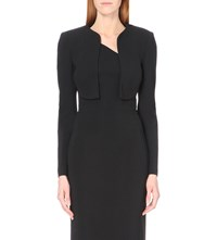 Antonio Berardi Cropped Stretch Crepe Bolero Jacket Black