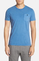 French Connection Pocket T Shirt Snorkel Blue