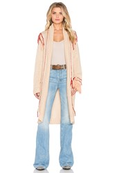 For Love And Lemons Denver Knit Cardigan Beige