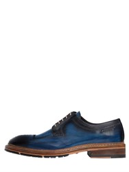 Harris Stitched And Brushed Leather Derby Shoes