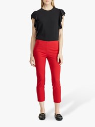Ralph Lauren Polo Keslna Skinny Crop Trousers Lipstick Red