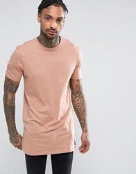 New Look Longline T Shirt In Pink Pink