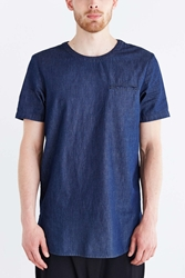 The Narrows Indigo Woven Denim Tee
