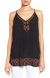 Women's Matty M Embroidered Woven Camisole