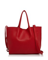Street Level Christine East West Tote Red Silver
