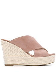 Sergio Rossi High Wedge Sandals Pink