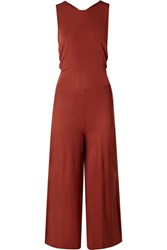 By Malene Birger Open Back Jersey Jumpsuit Brick