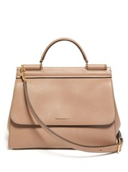 Dolce And Gabbana Sicily Small Leather Bag Dusty Pink