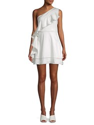 Red Carter Nailah One Shoulder Stretch Cotton Mini Dress Ivory