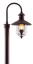 Troy Lighting Old Town Outdoor Post Light Brown