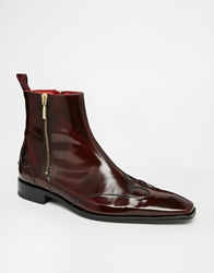 Jeffery West Zip Boots Red