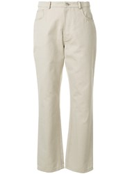 J.W.Anderson Jw Anderson Straight Leg Trousers Nude And Neutrals