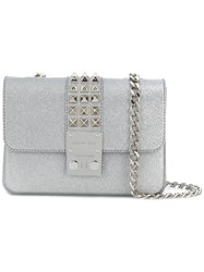 Designinverso Amalfi Glitter Shoulder Bag Metallic
